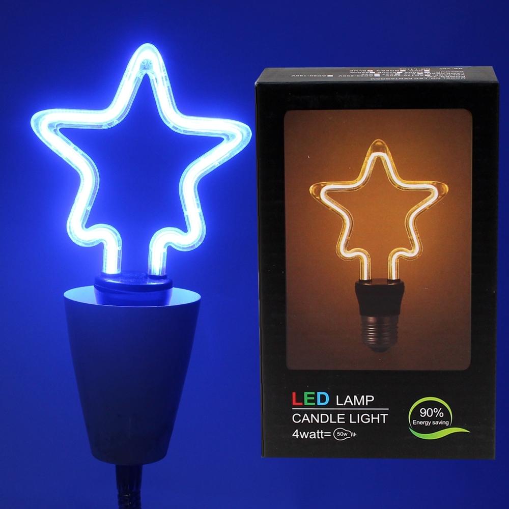 Telecorsa หลอดไฟ รูปดาว LED Lamp Candle Light รุ่น StarLlight-02A-JD2