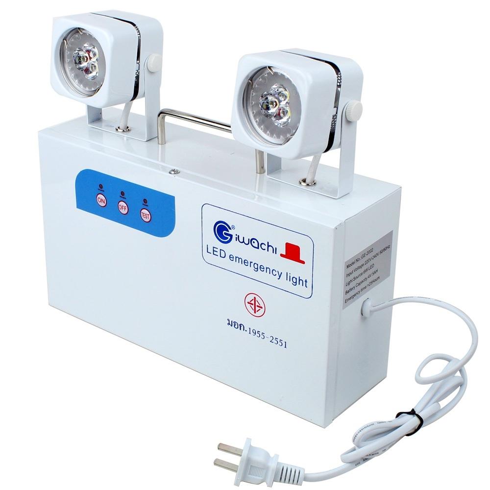 Telecorsa  ไฟฉุกเฉิน IWACHI  Emergency Light  GE-2002 6W  รุ่น GE-2002-06E-Song