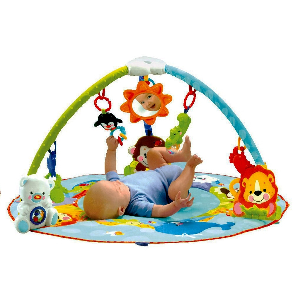 Telecorsa Smart Baby เพลยิมสิงโต ทรงกลม Deluxe Musical Activity Gym รุ่น SmartBabyBed-10i-Um