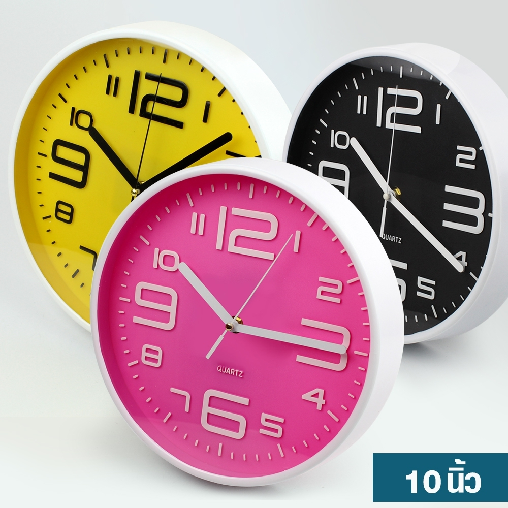 Telecorsa นาฬิกาแขวน ทรงกลม ขนาด 10 นิ้ว Good Well Clock รุ่น Clock-191-05g-Song