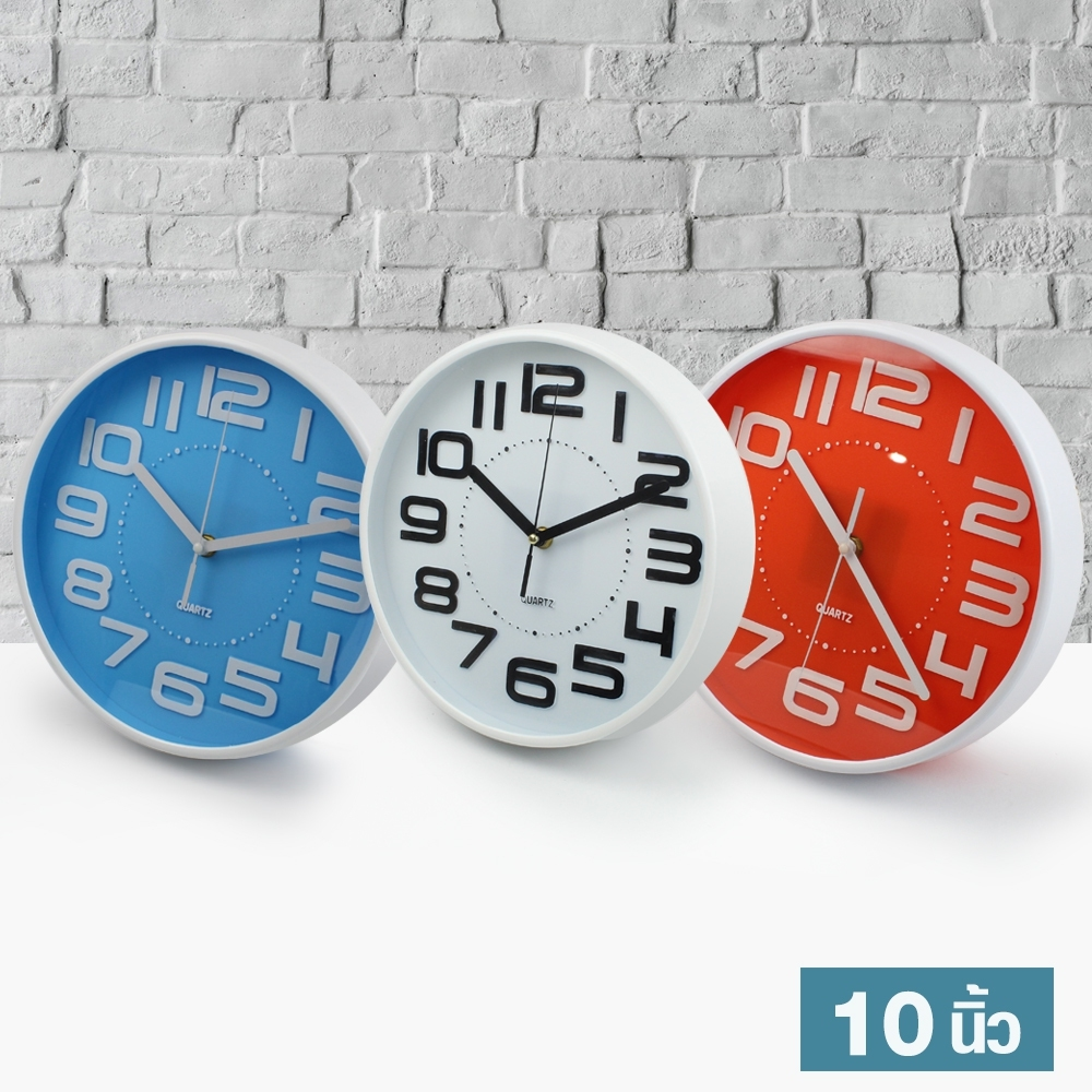 Telecorsa นาฬิกาแขวน ทรงกลม ขนาด 10 นิ้ว Good Well Clock รุ่น Clock-192-05g-song
