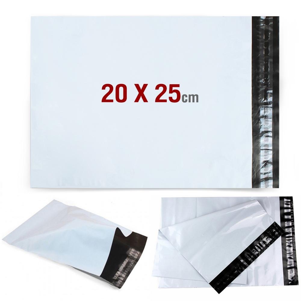 ซองจดหมาย ซองเอกสาร พลาสติก ขนาด 20x25cm 50ใบ รุ่น LetterBag20x25-50pcs-08B-Serm