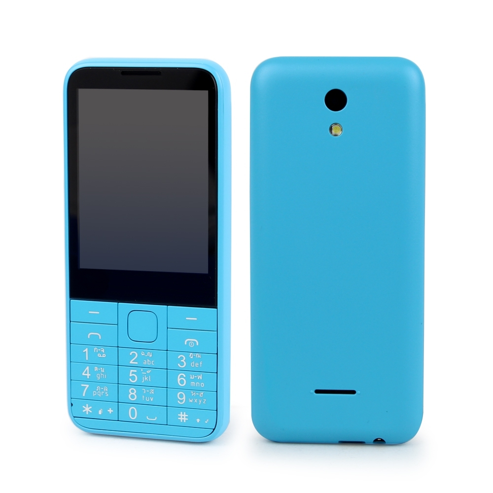 Telecorsa โทรศัพท์มือถือ 2G ใช้งาน 2 ซิม 225 สีฟ้า รุ่น 225-03D-Ri-Blue