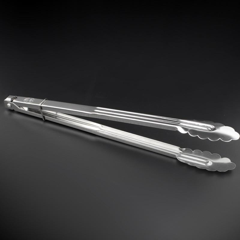 Telecorsa แบบยาวมาก  ที่คีบอาหาร (หัวใบไม้) ที่คีบสแตนเลส ที่คีบอเนกประสงค์  รุ่น Extra-long-bbq-charcoal-stick-04b-T5