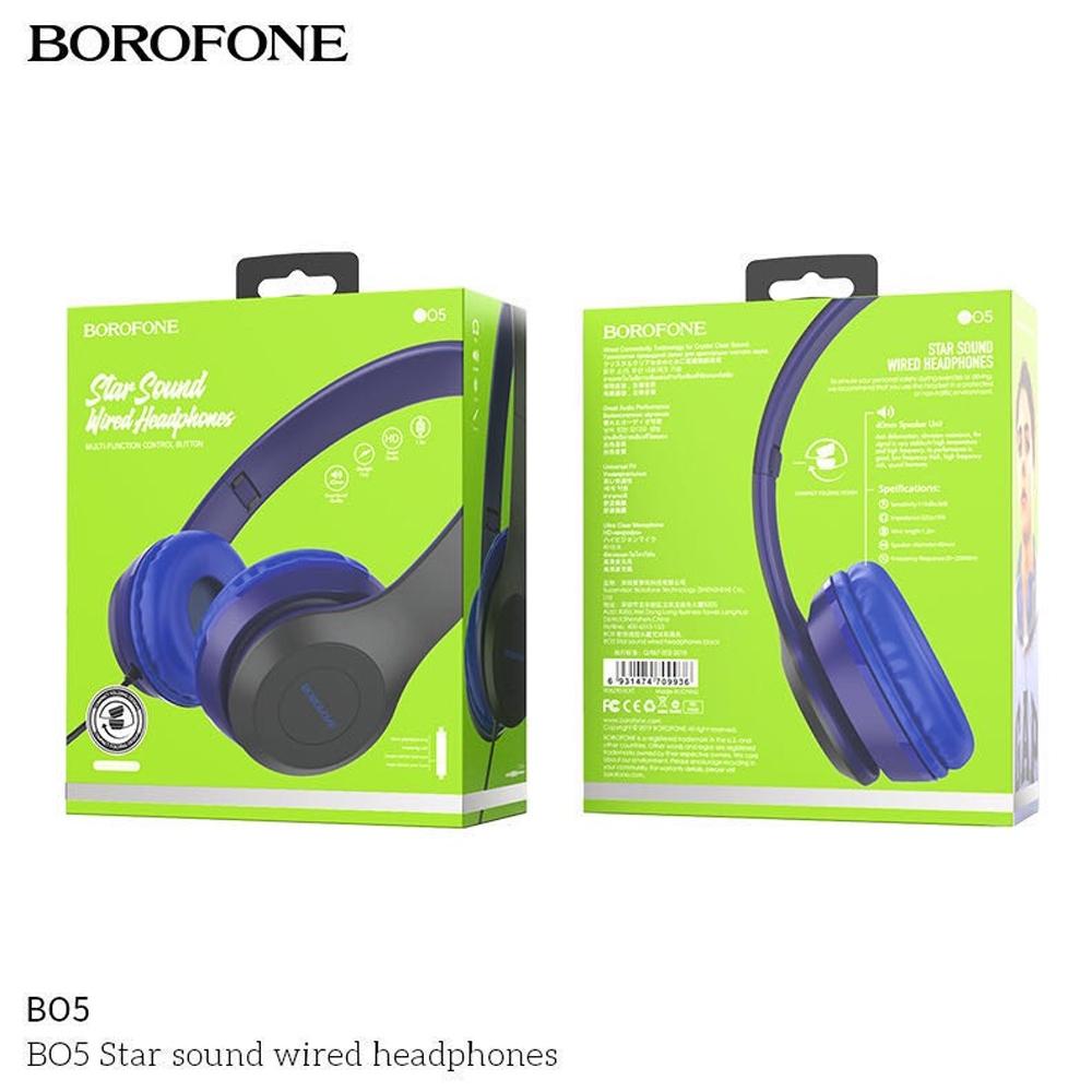 Telecorsa หูฟัง Borofone BO5 Headephone คละสี รุ่น BO5-03A-Ri