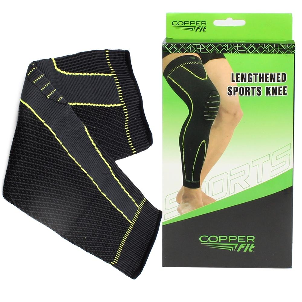 Telecorsa ปลอกขา ผ้ายืดรัดกล้ามเนื้อขา Copper Lengthened Sports Knee รุ่น Copper-whole-Knee-Support-00g-J1