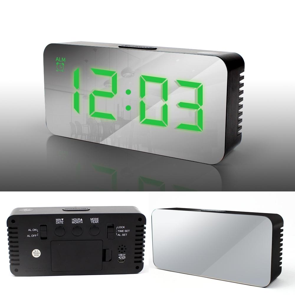Telecorsa นาฬิกาดิจิตอล นาฬิกาปลุกดิจิตอล หน้าปัดกระจก DS -3622L LED  Mirror Clock  รุ่น DS-3622L-07a-Song