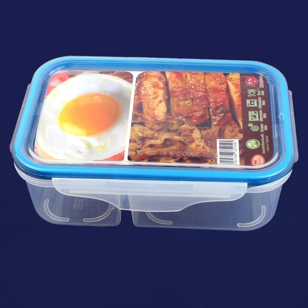 Telecorsa กล่องอาหาร สุญญากาศ เข้าไมโครเวฟได้ 1กล่อง รุ่น Food-Box-Container-Microwave-05b-Plas