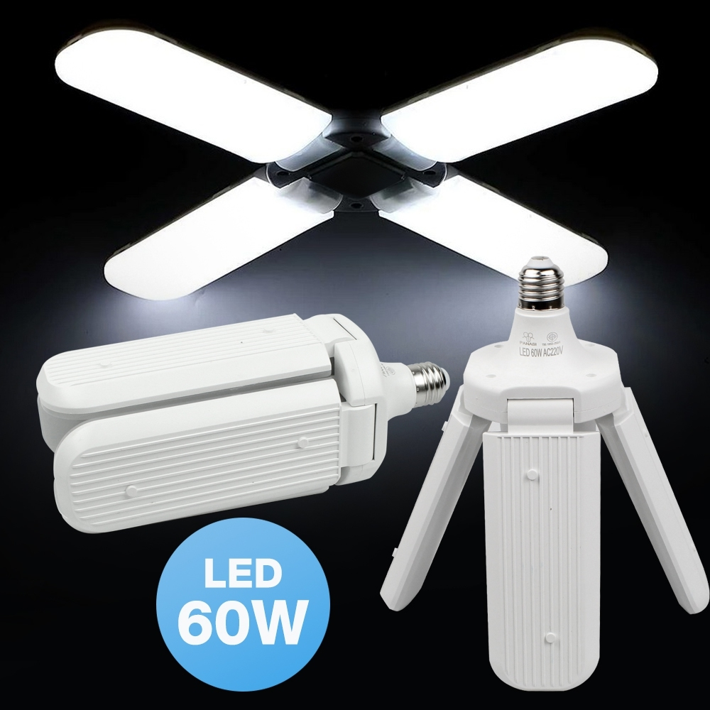 Telecorsa หลอดไฟ LED ทรงใบพัด พับเก็บได้  60W Panasi PN4220 LED Bulb  รุ่น LED-blub-PN-4220-50A-Song