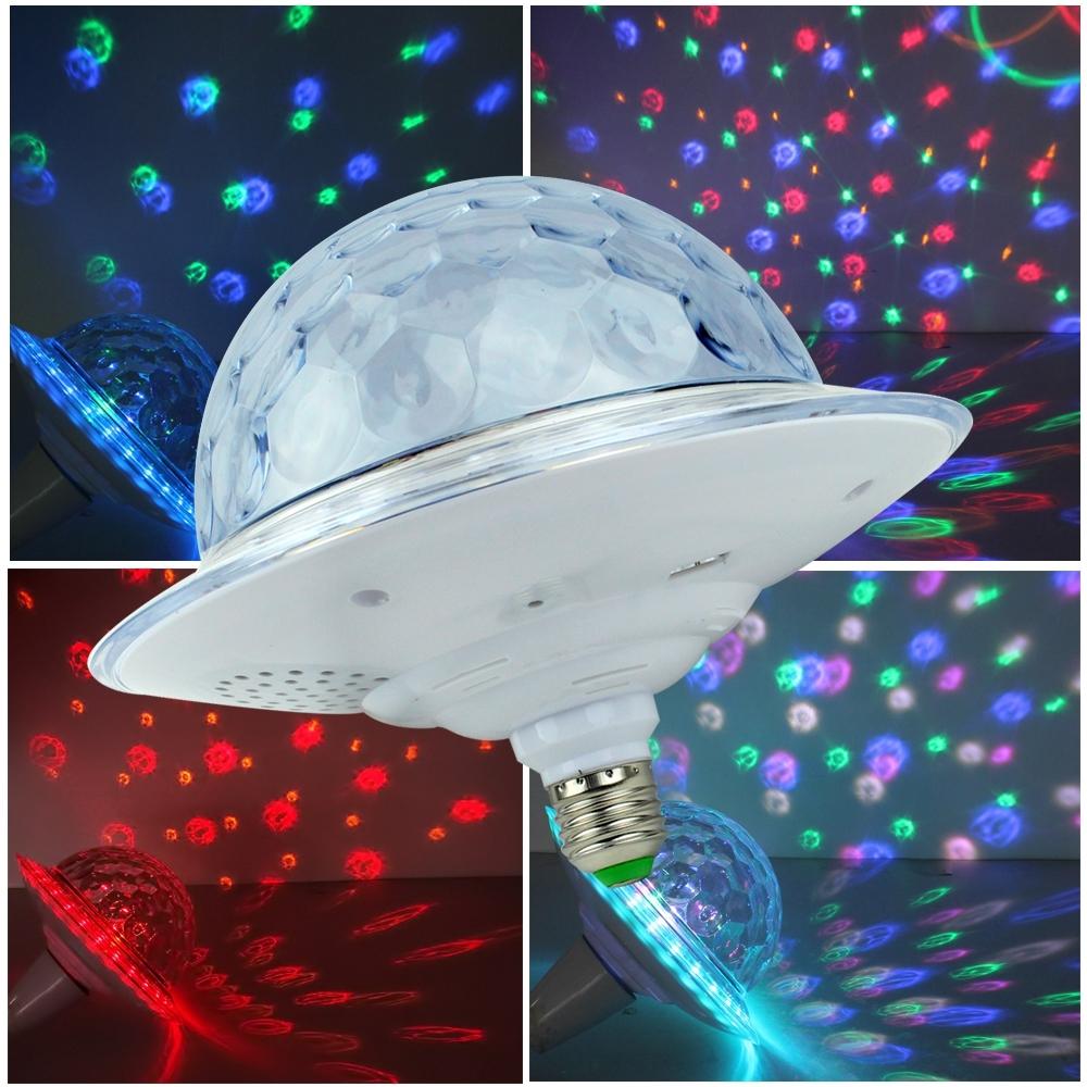 Telecorsa ไฟปาร์ตี้ บลูทูธทรง UFO พร้อมรีโมท LED UFO Bluetooth Crystal Magic Ball รุ่น LEDUFOBluetooth-53b-Rat