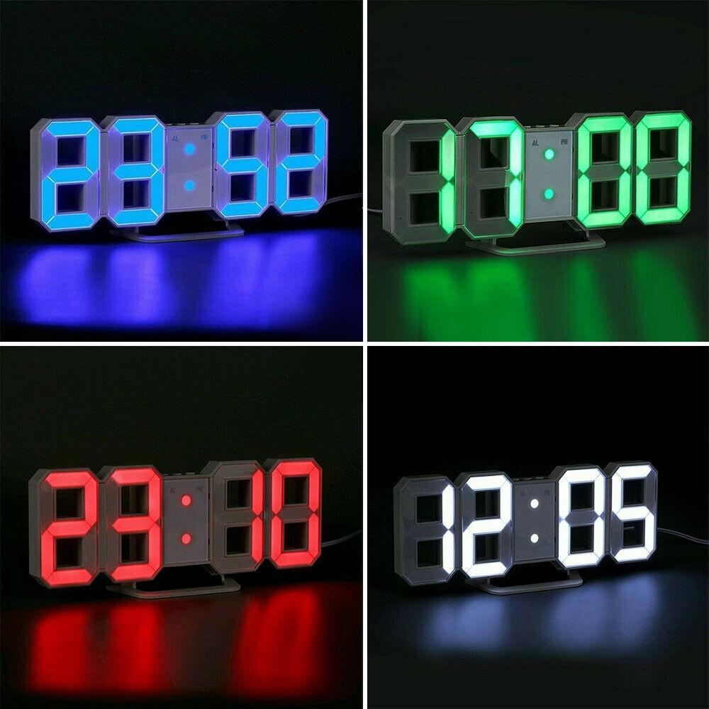 Telecorsa นาฬิกาดิจิตอล แบบตั้งโต๊ะ Modern LED Digita DS-6609 คละสี รุ่น Digital-clock-triangle-DS-6609-00B-Song
