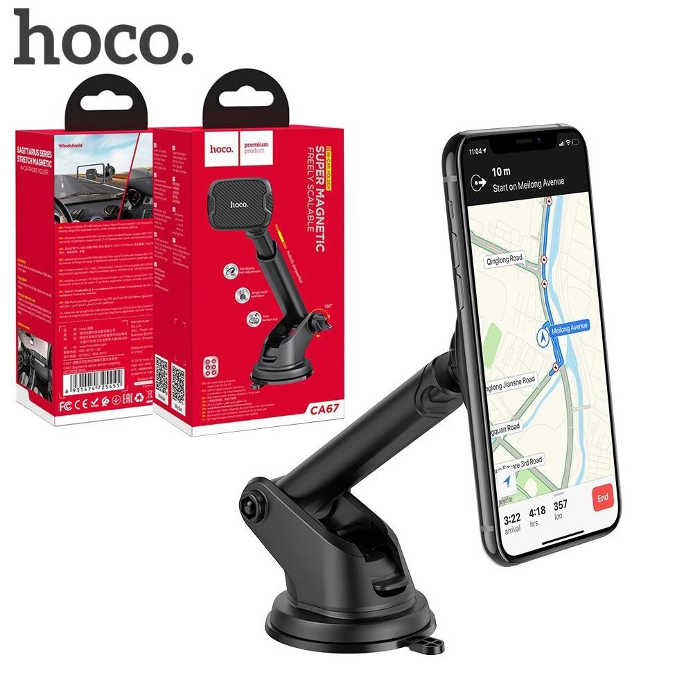 Telecorsa Hoco CA67 แท่นวางโทรศัพท์แม่เหล็กแบบคอยาว รุ่น  window-Mobile-holder-CA67-07A-Ri