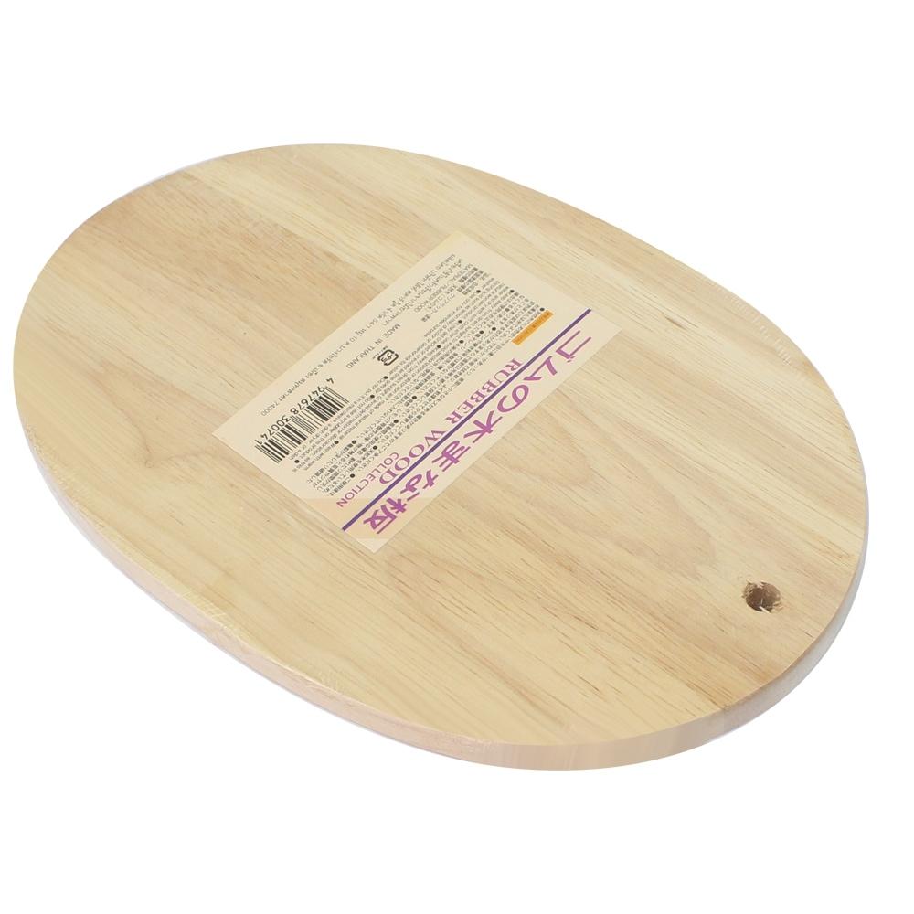 Telecorsa เขียงไม้ เขียงประกอบอาหาร  Rubber Wood รุ่น Wooden-cutting-vegetable-fruit-05a-Boss