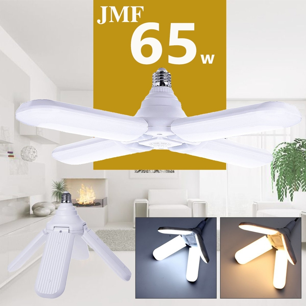 Telecorsaหลอดไฟ LED 65W (ทรงใบพัด 4 ใบพัด) พับได้ แสงสีเหลือง  รุ่น Lightblub-Fan-65W-LED-01A-Song