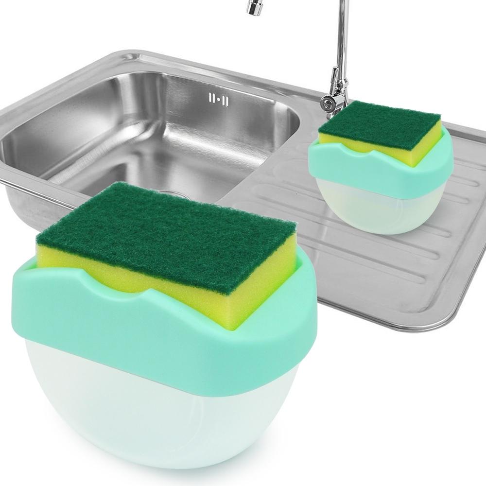 Telecorsa เครื่องกดน้ำยาล้างจาน Soap Pump Sponge Caddy รุ่น Soap-pump-sponge-caddy-sink-00e-J1