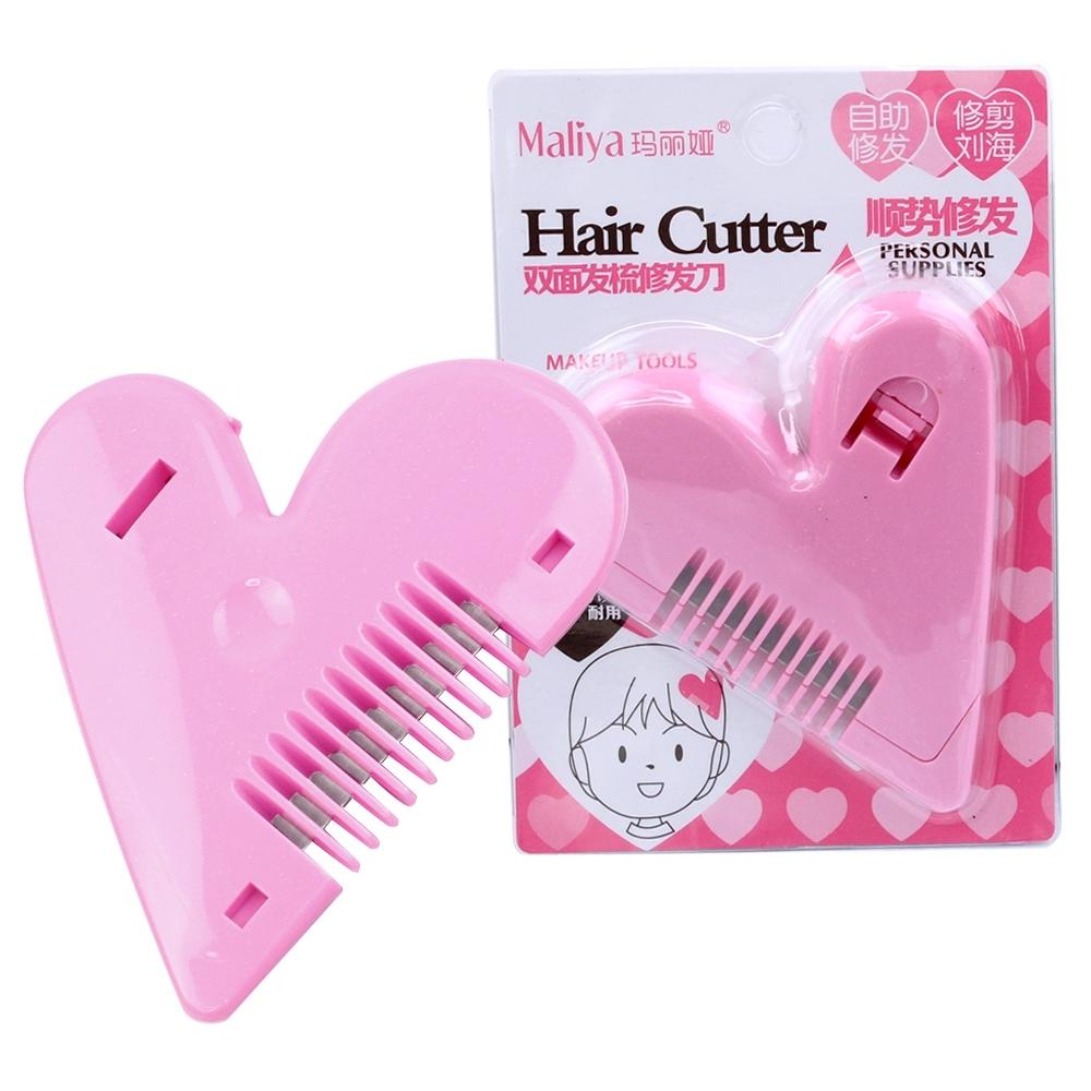 Telecorsa หวีซอยรูปหัวใจ สำหรับผู้หญิง(คละสี) รุ่น Comb-bangs-hair-heart-cutting-00h-boss