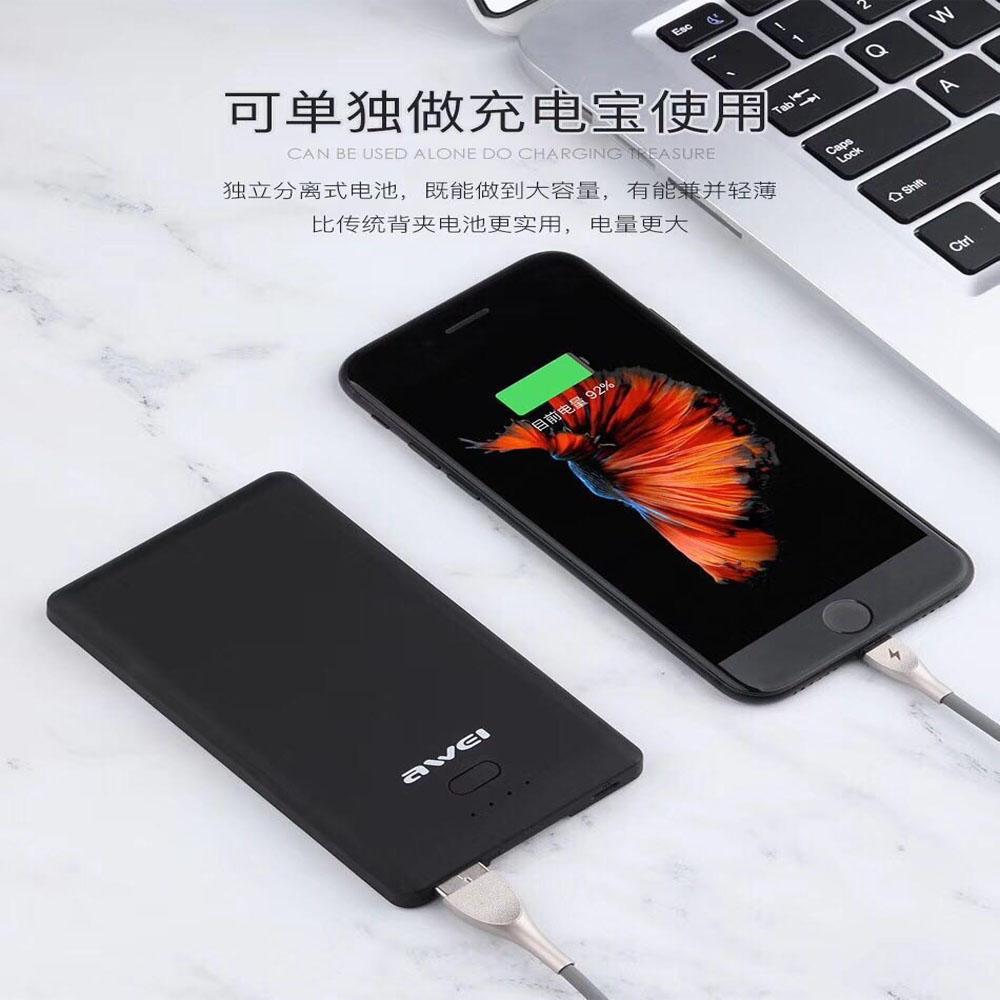 Telecorsa AWEI B2 เคสแบตสำรองแบบ Wireless สำหรับ iPhone X รุ่น Phone-cover-powerbank-wireless-iphone-x-Awei-B2-03d-Ri