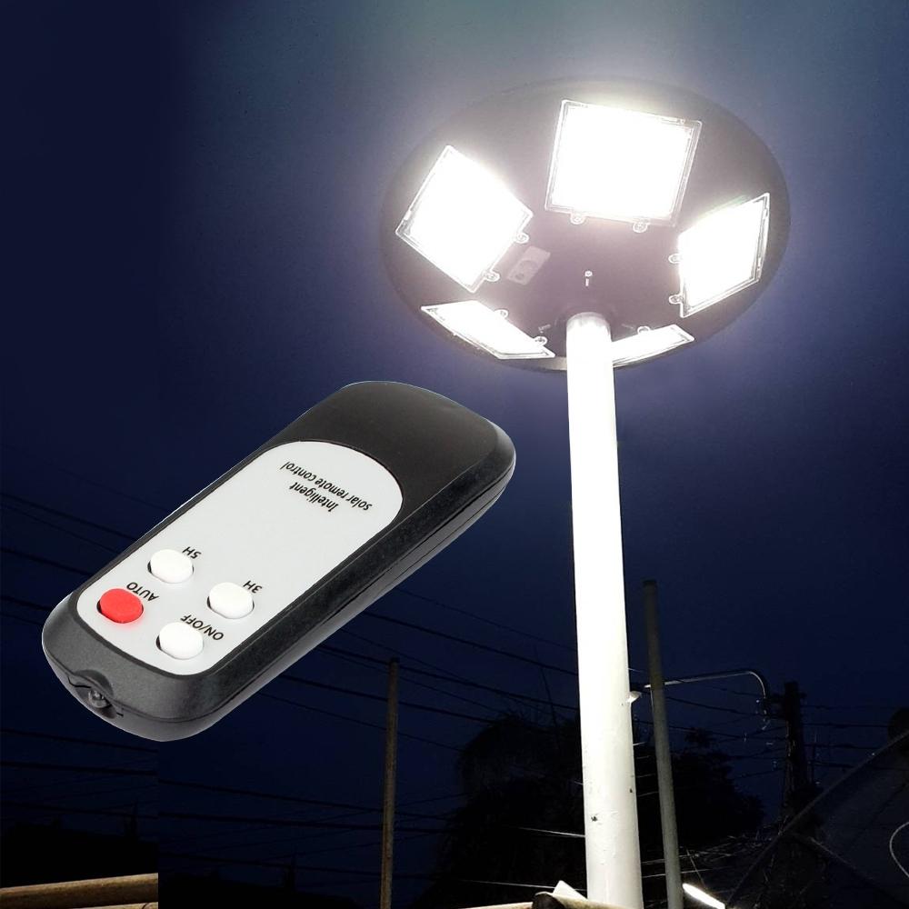 Telecorsa โคมไฟโซล่าเซล UFO 8ทิศทาง LED 800W แสงสีขาว  รุ่น UFO-Solar-LED-white-yellow-remote-00G-Song
