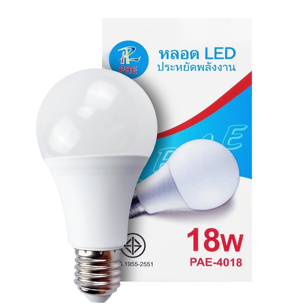 Telecorsa PAE-4018 หลอด LED 18W ขั้ว E27  ประหยัดพลังงาน รุ่น LED-มอก-screw-bulb-18w-00c-Song