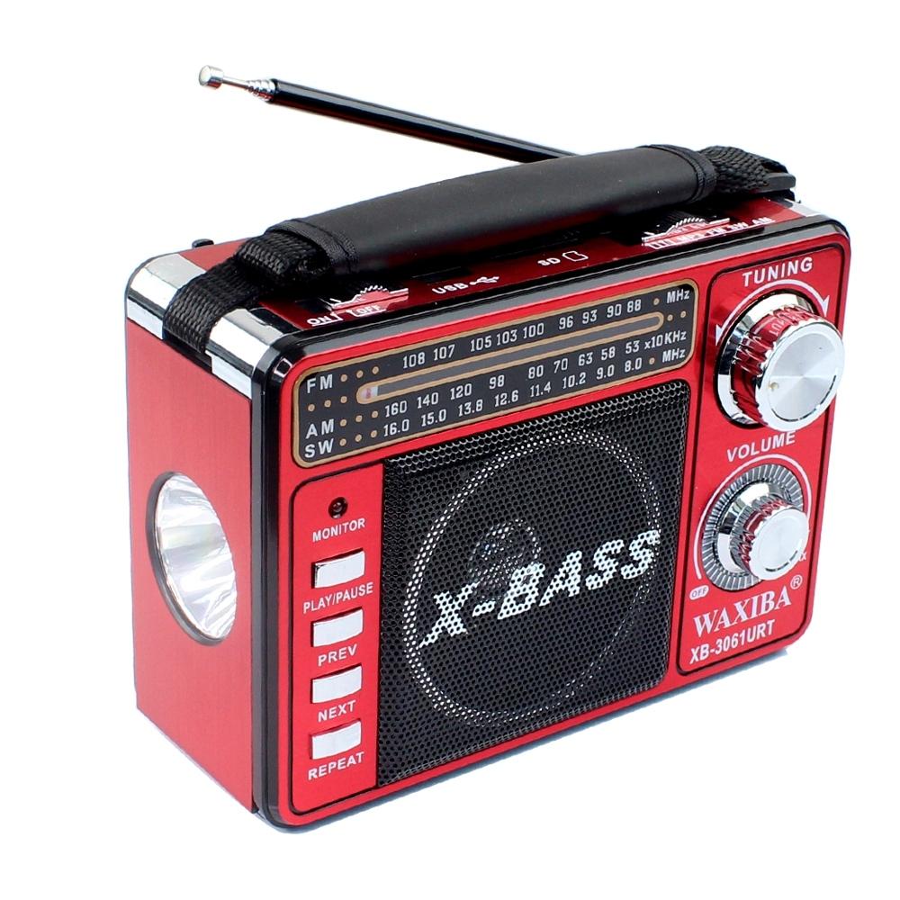 Telecorsa วิทยุ FM/AM XB-3061 URT ขนาดเล็กแบบพกพา คละสี รุ่น radio-bluetooth-usb-portable-xb-3061-bt-01b-K3