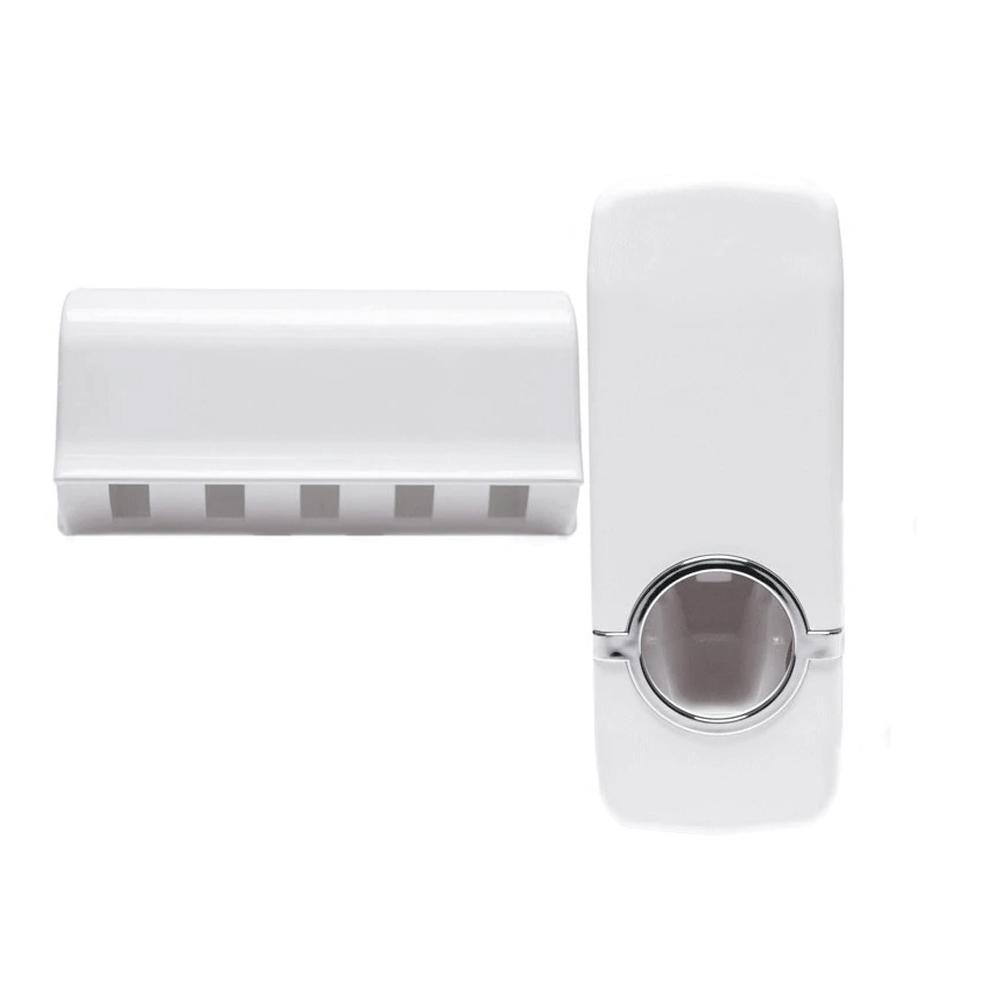 Telecorsa อุปกรณ์บีบยาสีฟัน พร้อมที่แขวนอุปกรณ์แปรงฟัน รุ่น toothpaste-holder-toilette-00e-J1