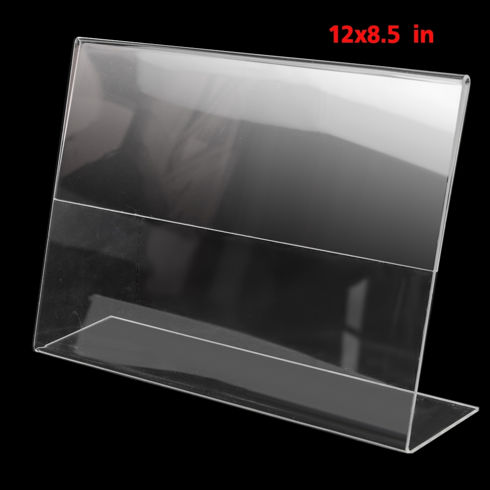 Telecorsa ป้ายตั้งโต๊ะอะคริลิคขนาด 12x8.5 แนวนอน รุ่น Plastic-clear-acrylic-1-sided-A4-stand-Landscape-advertisement-00a-boss