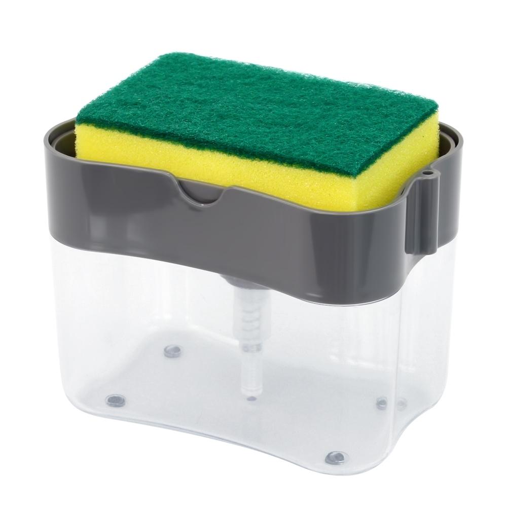 Telecorsa เครื่องกดน้ำยาล้างจาน  2in1 Soap Pump & Sponge Caddy  รุ่น  Toilet-soap-punp-sponge-caddy-00e-J1