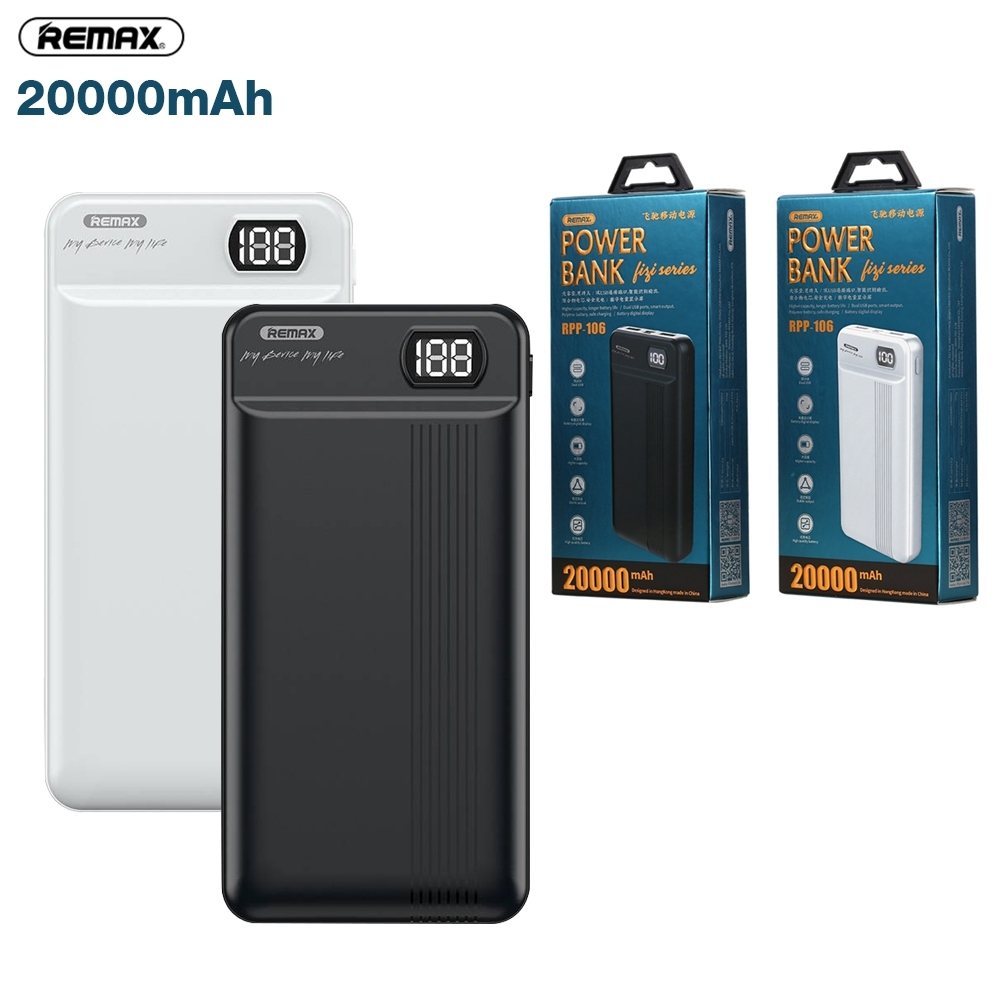 Telecorsa Power Bank Remax Rpp-106 ขนาด 20000 mAh รุ่นRPP-106-09B-Ri