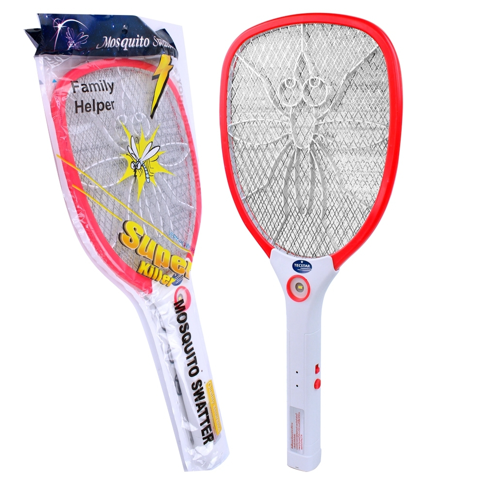 Telecorsa ไม้ตียุงไฟฟ้า Mosquito Swatter คละสี รุ่น Family-Helper-Mosquito-swatter-electric-00g-song
