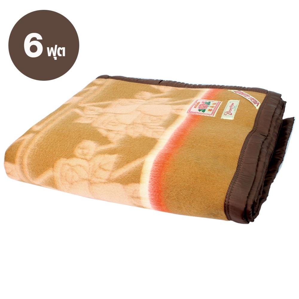 Telecorsa ผ้าห่มโบตั๋น  คละสี ขนาด 6 ฟุต รุ่น Lotus-Botun-6-feet-Blanket-Mattress-big-00E-psk2