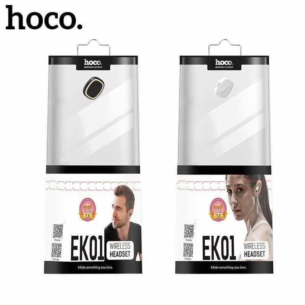 Telecorsa Hoco EK01 หูฟังไร้สาย บลูทูธ ไซส์เล็ก คละสี รุ่น Bluetooth-headset-EK-01-07A-Ri