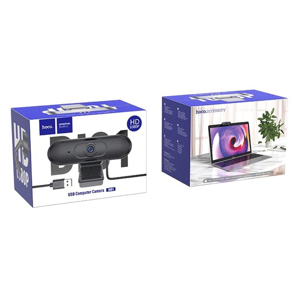 Telecorsa กล้องเว็บแคม Hoco Webcam Full HD 1080P รุ่น Computer-Camera-Webcam-DI01-01D-Ri