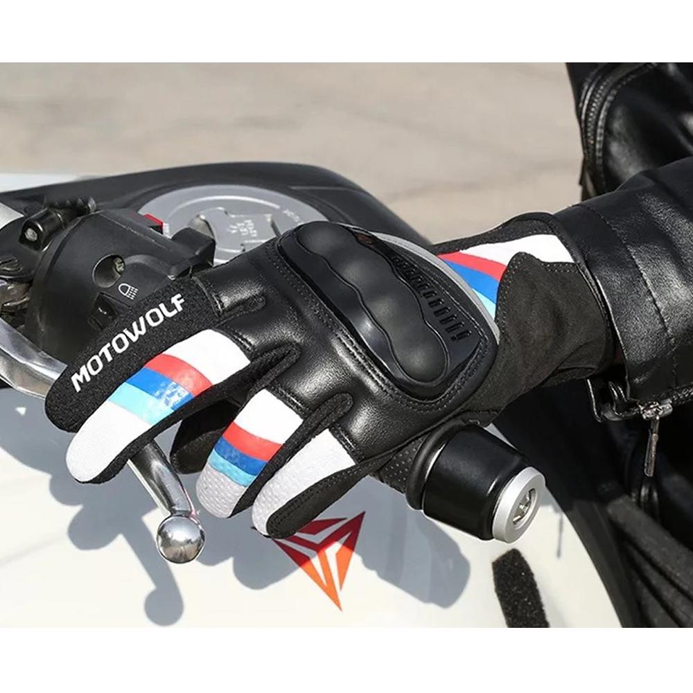 Telecorsa MOTOWOLF ถุงมือ รุ่น0308 คละสี รุ่น Motorbike-leather-gloves-s1000-00E-Ri