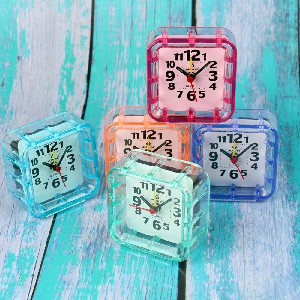 Telecorsa นาฬิกาปลุกตั้งโต๊ะ ทรงสีเหลื่ยม(คละสี)รุ่น  Portable-Alarm-Clock-00B-Song