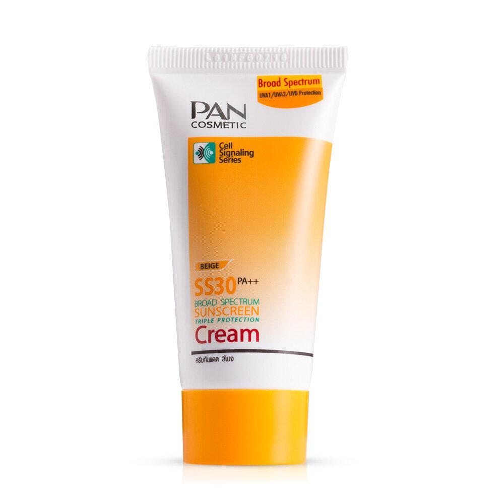 Pan SS30 Broad Spectrum Sunscreen Cream-Beige 30 g. แพน กันแดด SPF 30 สีเบจ