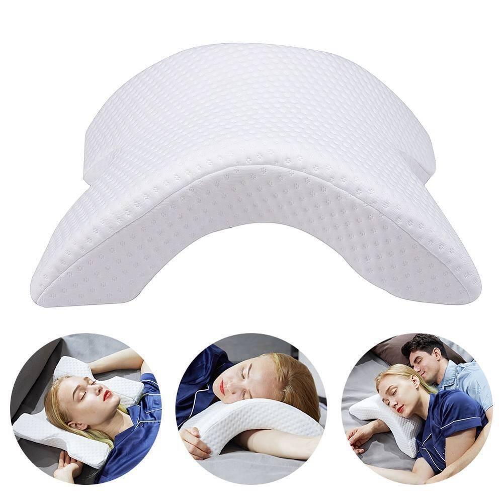 Telecorsa หมอน เพื่อสุขภาพ แบบโค้ง Pressure Free Memory Pillow รุ่น Pressure-Free-Memory-Pillow-02B-J1