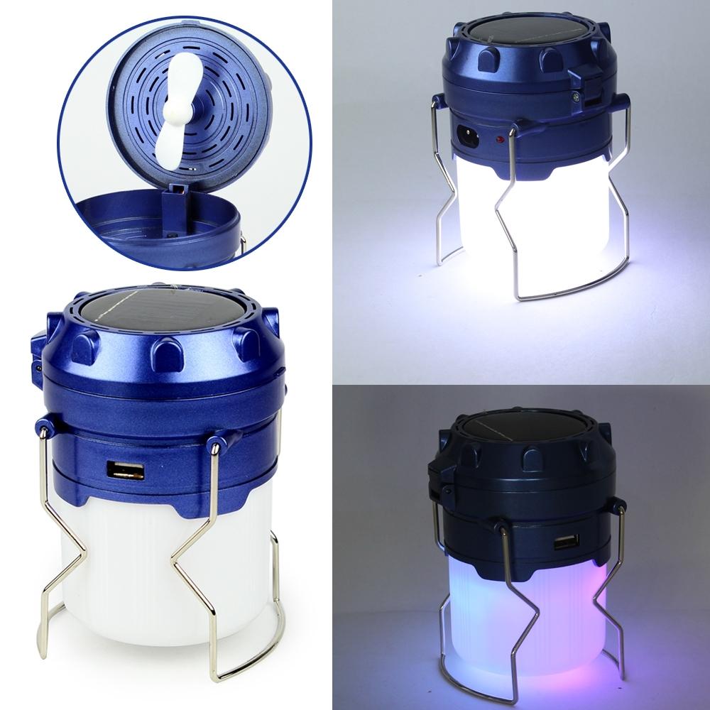 Telecorsa โคมไฟ LED แคมป์ปิ้ง โคมไฟแคมป์ปิ้ง มีพัดลมในตัว SH-305 Hidden Fan Camping Lights รุ่น HiddenFan-Camping-Light-00i-K2