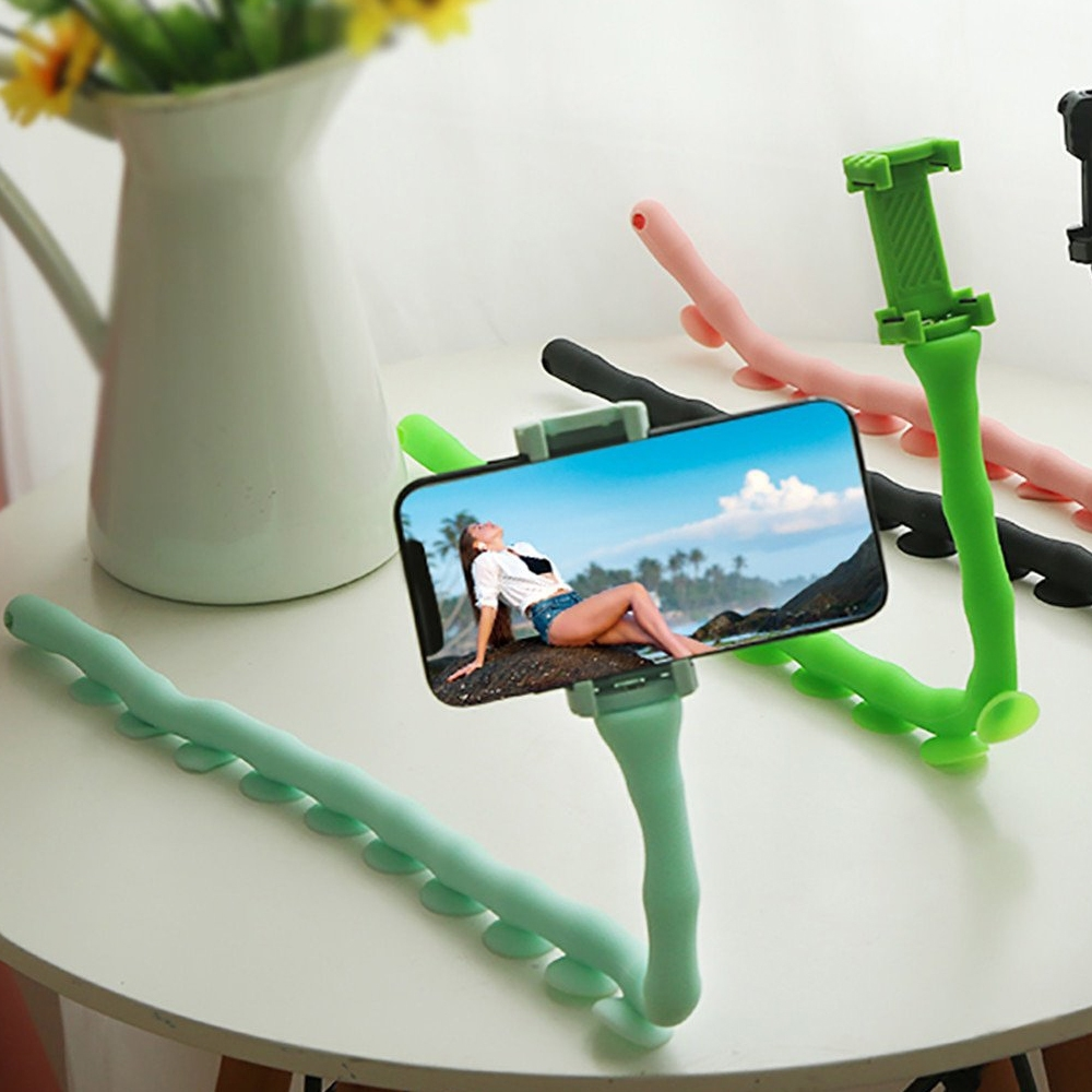 Telecorsa ที่จับโทรศัพท์มือถือ ตัวยึดจับโทรศัพท์มือถือ รูปตัวหนอน Cute Worm Lazy Holder คละสี รุ่น Selfie-Stick-mobile-00e-J1