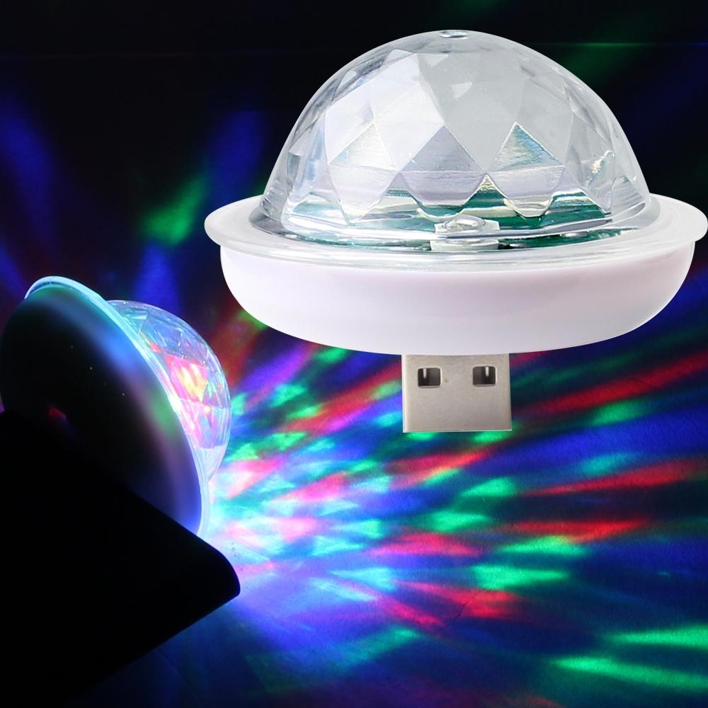 Telecorsa ไฟปาร์ตี้ ไฟเธค ไฟปาร์ตี้จิ๋ว ไฟไฟเธคจิ๋ว  LED Small Magic Ball 4W คละสี รุ่น Small-Magic-Usb-4W-00c-K4