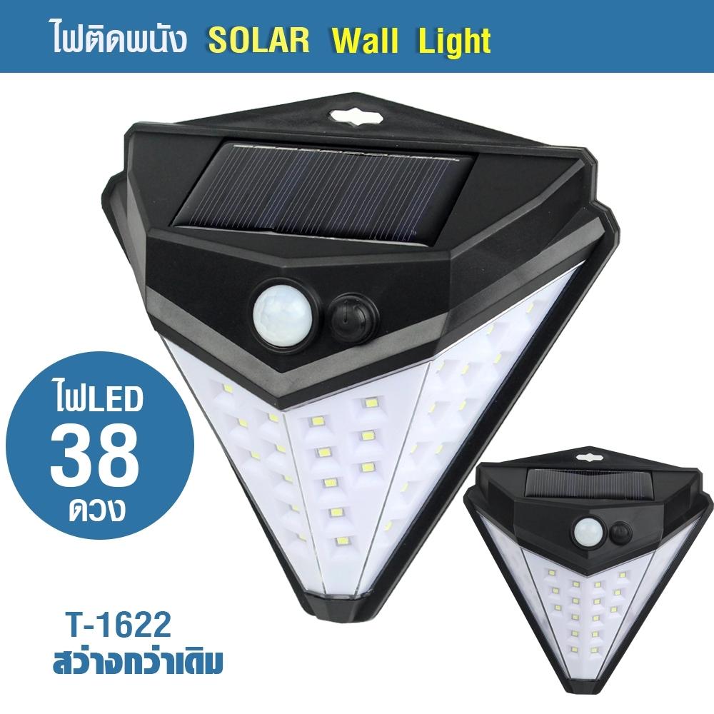 Telecorsa ไฟติดผนัง โซล่าเซลล์ ไฟติดผนังพลังงานแสงอาทิตย์ ไฟโซลาร์ T-1622 Solar Wall Light รุ่น Solar-LED-T-1622-00i-Rat