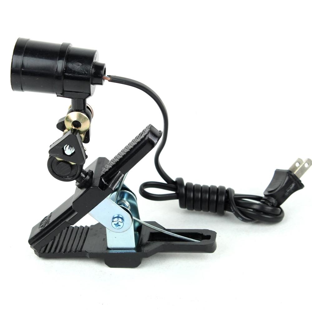 Telecorsa ขาหนีบขั้วหลอดไฟ E27 สีดำพร้อมขาหนีบ รุ่น BlackClipLEDBlub-08b-Song