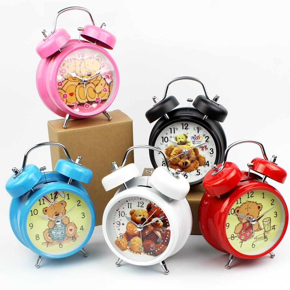 Telecorsa นาฬิกาปลุก  ลายตุ๊กตาหมี  HANGLONG CLOCK รุ่น Quartz-Clock-Bear-BlackBox-02a-Song