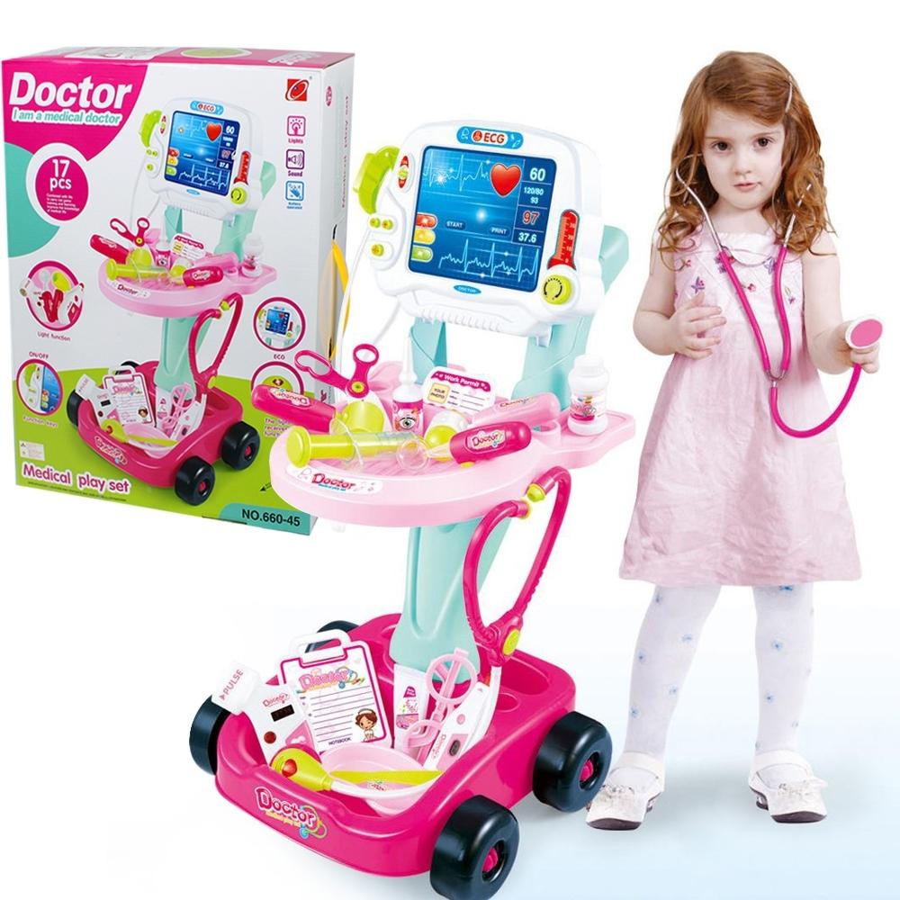 Telecorsa ชุดคุณหมอ เด็กผู้หญิง ของเล่นเด็ก Doctor I am a Medical Doctor รุ่น Doctor-SetGirl-660-46-02D-Rim