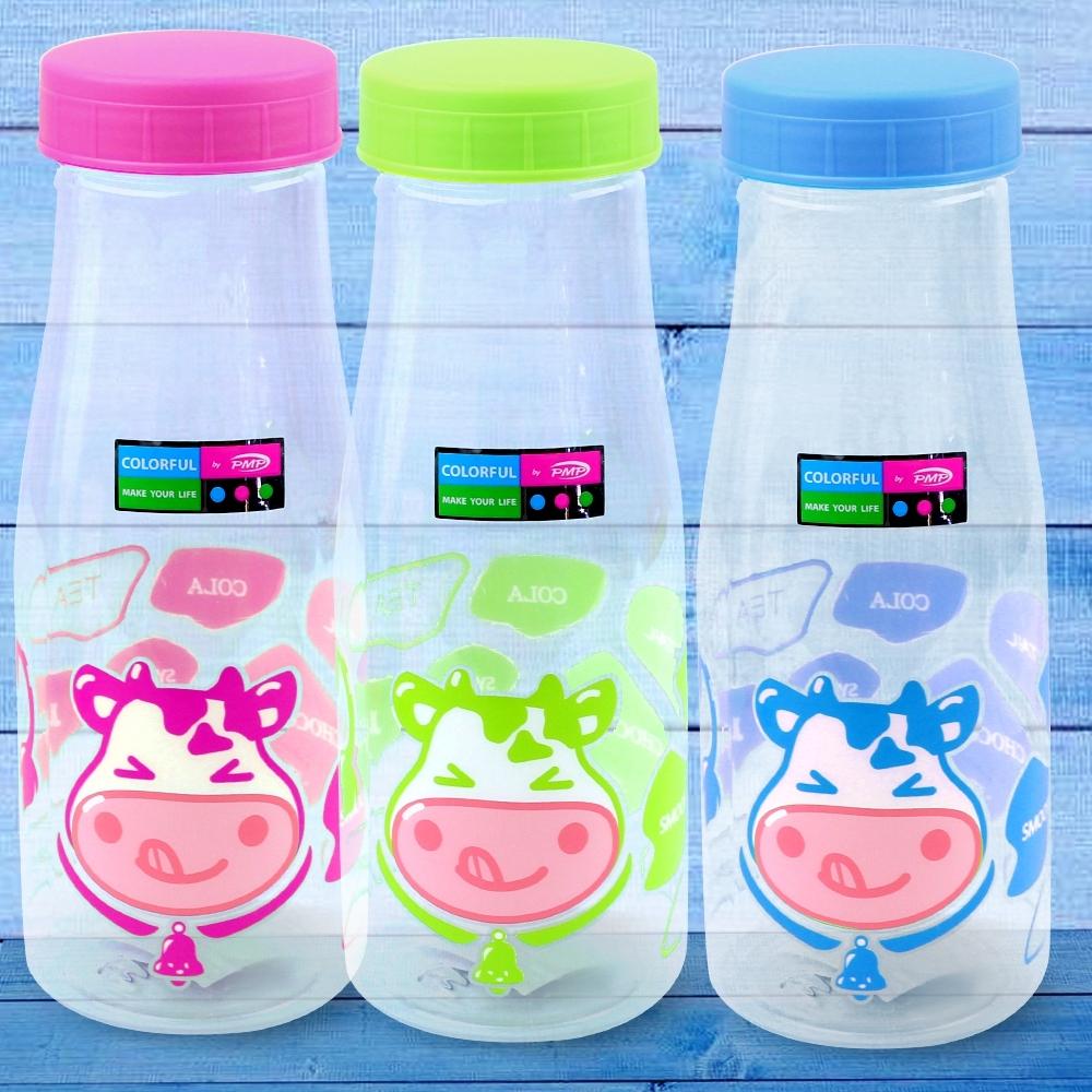Telecorsa กระบอกน้ำ ขวดใส่น้ำ ขวดน้ำ ฝาสี (คละสี) รุ่น water-bottle-cow-design-07a-T4