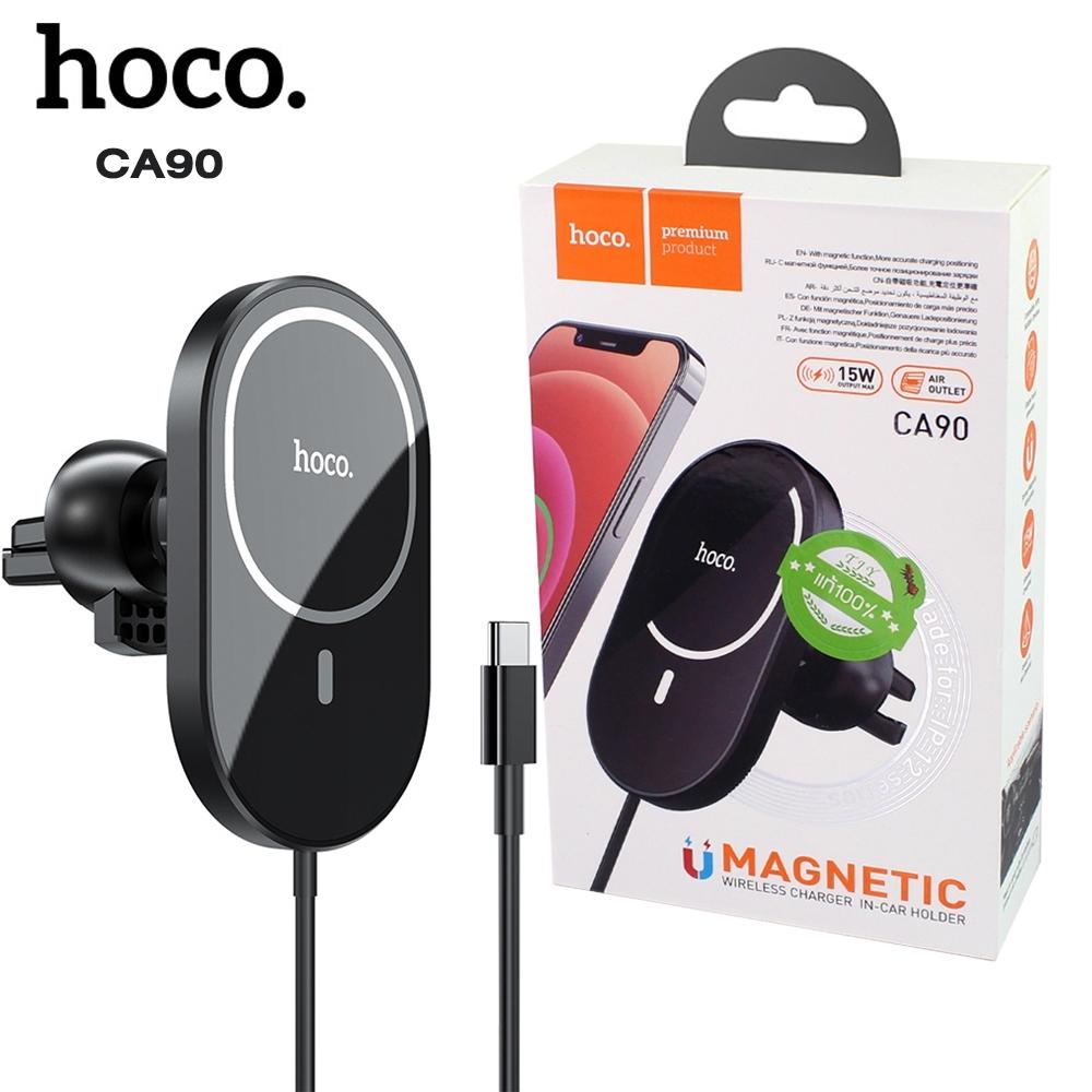 Telecorsa ที่ชาร์จไร้สายในรถยนต์ Hoco CA90 รุ่น car-magnetic-holder-charger-02d-Ri