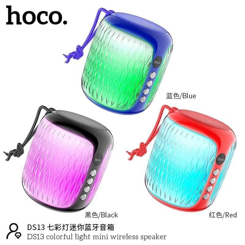 Telecorsa Hoco DS13 ลำโพงบลูทูธ ลำโพง มีไฟกระพริบ รุ่น mini-speaker-lighting-wireless-speaker-bluetooth-00B-Ri