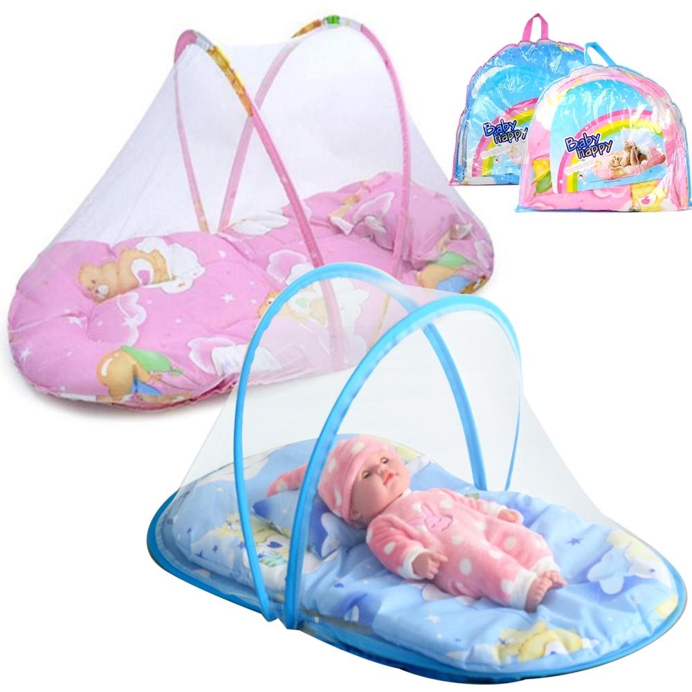 Telecorsa ที่นอนเด็ก ที่นอนเด็กพกพา พร้อมมุ้งครอบ Baby Happy W3 รุ่น W3-02a-JS